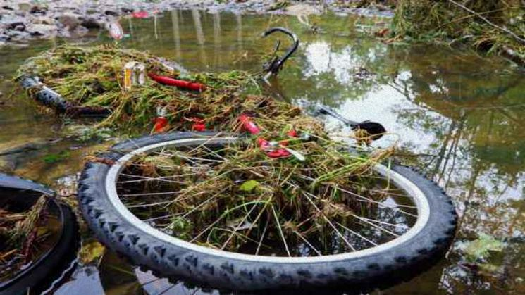 Bikes damaged in Flood